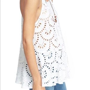 Free people NWT white lace top